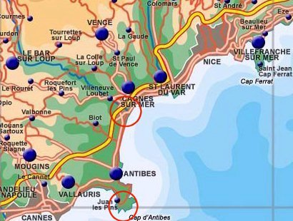 Map of Riviera